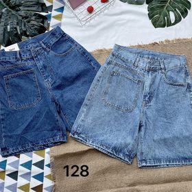 Quần short ngố jean túi kiểu ms128 giá sỉ