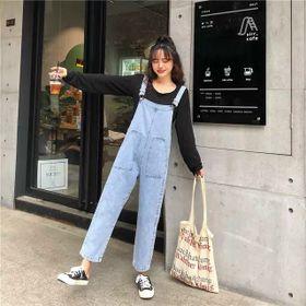 Quần yếm jean nữ 2 túi trước giá sỉ