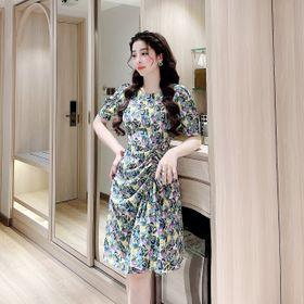 Váy hoa kiểu rút dây eo che khuyết điểm tốt giá sỉ