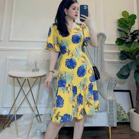 Váy lanh nhung cao cấp xếp ly đuôi cá giá sỉ