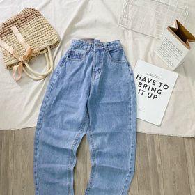 Quần baggy jean nữ trơn ms007 thời trang jean 2KJean giá sỉ