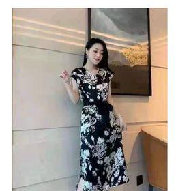 Đầm lụa TK siêu đẹp họa tiết cao cấp giá sỉ