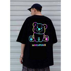 Áo thun phản quang 7 màu Gấu LOVE&PEACE giá sỉ
