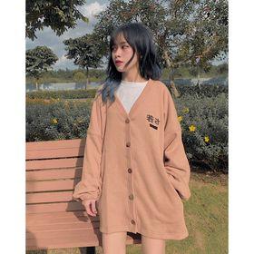 Áo khoác cardigan logo thêu form rộng đẹp giá sỉ giá sỉ
