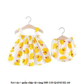 Set váy+ quần chip vịt vàng giá sỉ