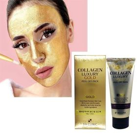 Mặt Nạ Vàng Collagen Luxury 24k Gold Peel Off Pack 3W Clinic giá sỉ