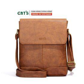 Túi đeo chéo CNT unisex IPAD21 nhiều màu cá tính BÒ ĐẬM giá sỉ