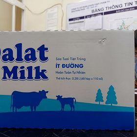 Sữa tươi ít đường 110ml của Đà lạt giá sỉ