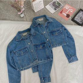 Áo khoác jean nữ form croptop kiểu túi to trước chuyên sỉ jean 2Kjean giá sỉ