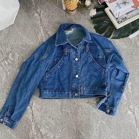 Áo khoác jean nữ kiểu áo croptop thời trang chuyên sỉ jean 2Kjean giá sỉ