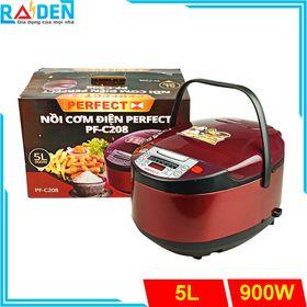 Nồi cơm điện tử 5L Perfect PF-C208 nhiều chức năng nấu tích hợp giá sỉ