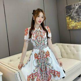 Đầm lụa họa tiết trẻ siêu đẹp. giá sỉ