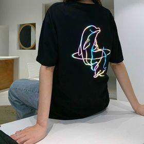 Áo thun phản quang 7 màu cá heo dễ thương giá sỉ