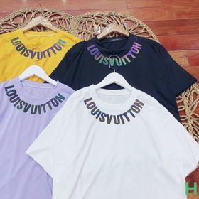 Áo thun phản quang 7 màu chữ trên cổ đep giá sỉ