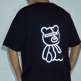 Áo thun phản quang màu bạc in gấu đẹp giá sỉ giá sỉ