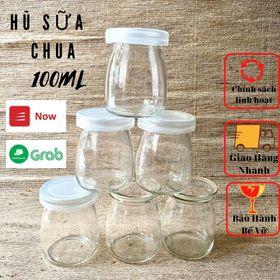 Hũ Sữa Chua 100ml, Hũ Thủy Tinh Làm Sữa Chua, Yaourt, Bánh Flan giá sỉ