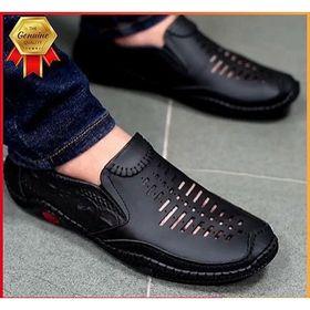 Giày Mọi Da Cao Cấp Thoáng Khí Nam, Đế Su giá sỉ
