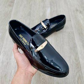 Giày Lười Da Bóng Nam Khóa Lưỡi Trăng Vàng giá sỉ