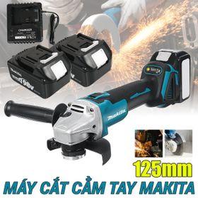 Máy mài, cắt Makita 198V (AG125DWE) – Máy mài góc, máy cắt cầm tay dùng pin – 2 pin 10 cell 1 sạc – Đầu 12.5mm – 3 chế độ - Động cơ không chổi than giá sỉ