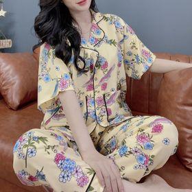 Đồ bộ pijama cánh dơi Lụa Hàn. Dài Cộc giá sỉ