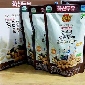 1 Thùng (3 lốc) sữa đậu đen hạnh nhân óc chó Hwashin (60 bịch 195ml/bịch) giá sỉ