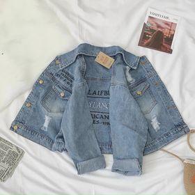 Áo khoác jean nữ croptop. xem nhiều mẫu qua giá sỉ