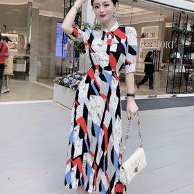 Đầm lụa siêu đẹp họa tiết sang giá sỉ