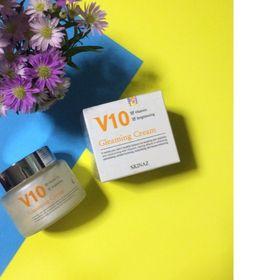 Kem Dưỡng Trắng Sáng Da Mặt Cao Cấp V10 Gleaming Cream Skinazzz 100ml - Hàn Quốc giá sỉ