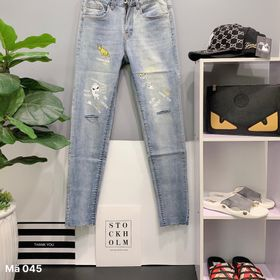 quần jean nam in họa tiết cực đẹp giá sỉ giá sỉ