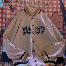 Áo khoác nhung kiểu bomber logo 1997 unisex đẹp giá sỉ