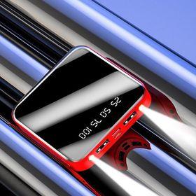 Sạc dự phòng mặt kính 20000mAh 2 đèn pin và hiển thị % pin giá sỉ