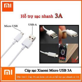 Cáp sạc nhanh Xiaomi 3A zin new cao cấp chân Micro giá sỉ