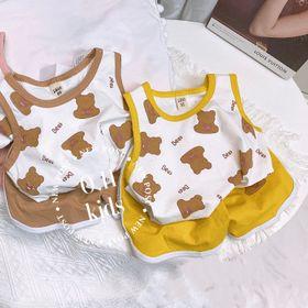Bộ quần áo trẻ em - bộ ba lỗ gấu giá sỉ