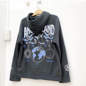 Áo hoodie in ANGEL LAND nỉ ngoại mềm mịn nón 2 lớp trẻ trung, năng động giá sỉ