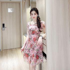 váy tơ hoa 2 lớp giá sỉ