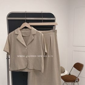Set áo vest cộc tay váy dài giá sỉ