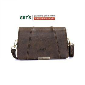 Túi đeo chéo CNT TĐX67 thời trang phong cách vintage NÂU giá sỉ
