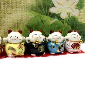 Bộ 5 Mèo Sứ Thần Tài Maneki Neko ( Mèo Đứng ) giá sỉ