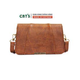 Túi đeo chéo CNT TĐX67 thời trang phong cách vintage BÒ ĐẬM giá sỉ