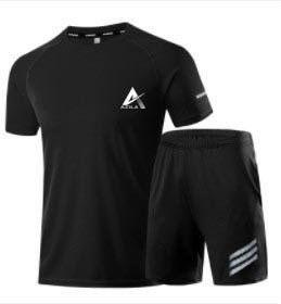Bộ thể thao Azila, Set bộ quần áo nam mùa hè in Logo chất thun cotton cao cấp - BN303 giá sỉ