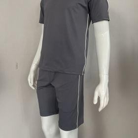 Bộ thể thao unisex, Set bộ quần áo mùa hè viền đơn nam tính chất liệu thun lạnh cao cấp - BN308 giá sỉ