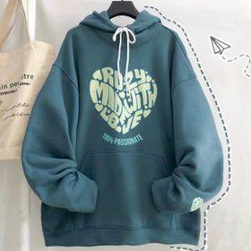 Áo hoodie nỉ ngoại in PASSIONATE phong cách trẻ trung năng động giá sỉ