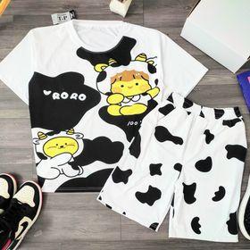 Đồ bộ mặc nhà bò sữa RORO dễ thương chất cotton siêu thoáng mát giá sỉ