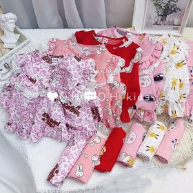Bộ đồ trẻ em - bộ pijama bé gái size nhí giá sỉ