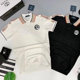 Áo thun nam cao cấp phối viền vai thêu logo trước ngực giá sỉ giá sỉ