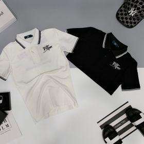 Áo thun nam thêu chữ logo trước sau giá sỉ cotton 100% giá sỉ