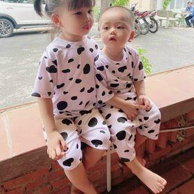 Đồ bộ em bé mặc nhà bò sữa siêu dễ thươngP giá sỉ