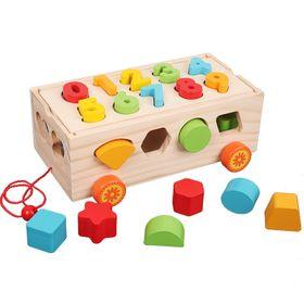 Xe thả gỗ hình học đồ chơi cho bé giá sỉ