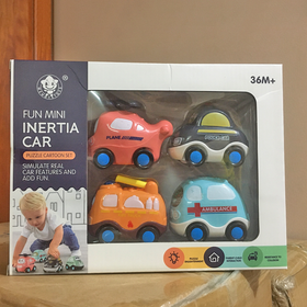 Hộp 4 ô tô đồ chơi cao cấp cho bé giá sỉ