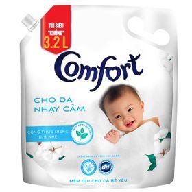 Nước Xả Vải Comfort Cho Da Nhạy Cảm (3.2L/Túi) - Phù Hợp Với Làn Da Em Bé giá sỉ
